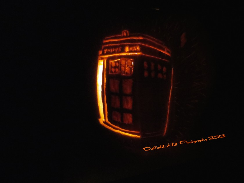 The Tardis is hanging in time by a thread as well...Happy Wholloween!